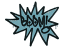 Sealed Graffiti | BOOM (Wire Blue)