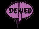 Sealed Graffiti   Denied (Bazooka Pink)