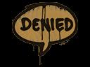 Sealed Graffiti   Denied (Desert Amber)