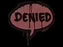Sealed Graffiti   Denied (Brick Red)