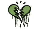 Sealed Graffiti | Broken Heart (Battle Green)