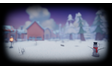 The snowy village